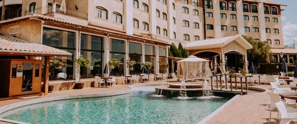 Vista parcial do magnífico Hotel Spa do Vinho Autograph Collection, em Bento Gonçalves